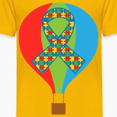 Autism Hot Air Balloon Kids' Shirts