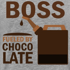 Boss Fueled By Chocolate T-Shirts - Men's Premium T-Shirt