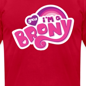 Yes I'm a Brony - Men's T-Shirt by American Apparel