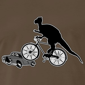 Bicycle Riding Dinosaur T-Shirt - Men's Premium T-Shirt