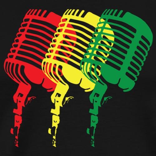 Reggae-Colored Microphones in a classic design