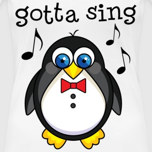 Singer Penguin Choir Music Women's T-Shirts - Women's Premium T-Shirt