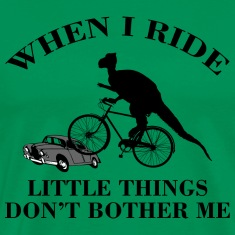 Bicycle Funny Dinosaur Riding T-Shirt