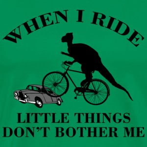 Bicycle Funny Dinosaur Riding T-Shirt - Men's Premium T-Shirt