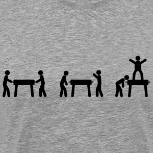 Foosball table Evolution Shirt - Men's Premium T-Shirt