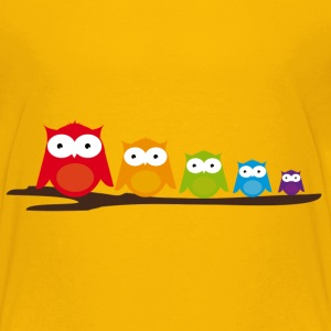 Five colorful owls Kids' Shirts - Kids' Premium T-Shirt