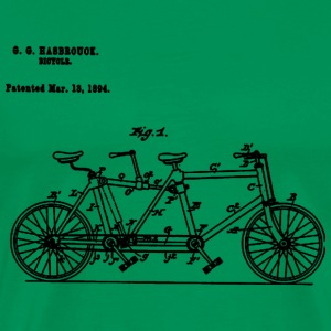 Bicycle Tandem Bike Conversion Kit 1984 T-Shirt - Men's Premium T-Shirt
