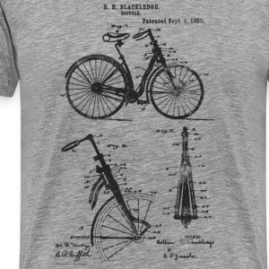 Bicycle Front Suspension Bike 1890 Blackledge T-Sh - Men's Premium T-Shirt