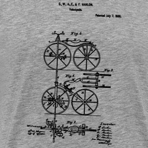 Bicycle Tricycle Velocipede 1868 Hanlon T-Shirt - Men's Premium T-Shirt