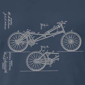 Bicycle Prone Bicycle 1907 Obree T-Shirt - Men's Premium T-Shirt