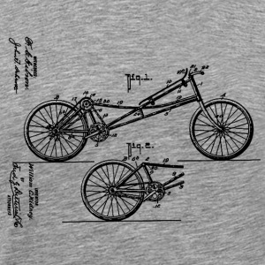 Prone Bicycle 1907 Obree T-Shirt - Men's Premium T-Shirt