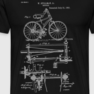Chainless Drive Bicycle 1891 Stillman T-Shirt - Men's Premium T-Shirt