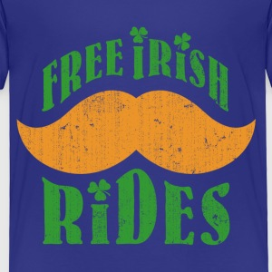 Free Irish mustache ride - Toddler Premium T-Shirt