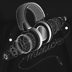 Items of headphones T-Shirts