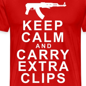 KEEP CALM AND CARRY EXTRA CLIPS T-Shirts - Men's Premium T-Shirt