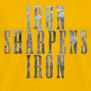 iron sharpens iron - Men's Premium T-Shirt