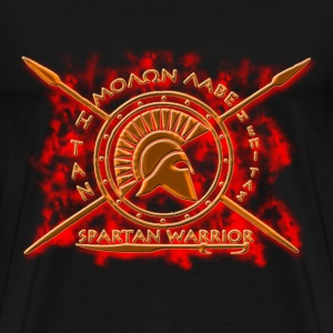spartan warrior-molon labe - Men's Premium T-Shirt