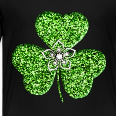Glitter Shamrock And Flower Toddler Shirt