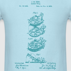 Mouse Trap Patent JM Keep 1879 T-Shirt - Men's T-Shirt