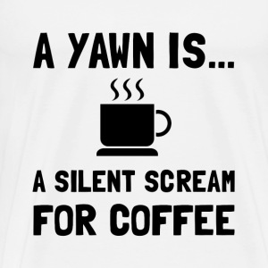 Yawn Coffee - Men's Premium T-Shirt