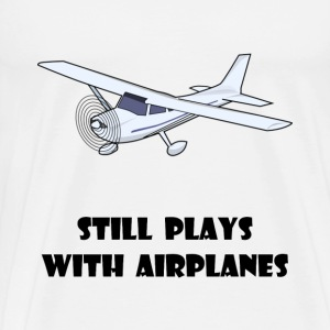 Plays With Airplanes - Men's Premium T-Shirt