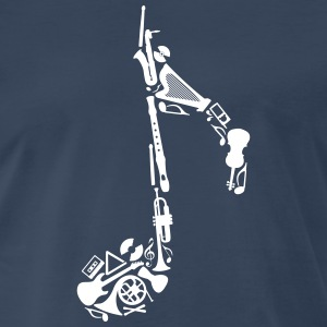 Notes of musical instruments Shirt - Men's Premium T-Shirt