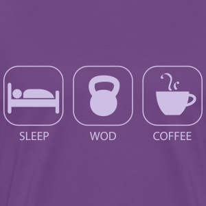 Sleep WOD Coffee Workout And Weight Lifting T-Shirts - Men's Premium T-Shirt