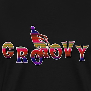 Bicycle Cycling Groovy - Men's Premium T-Shirt