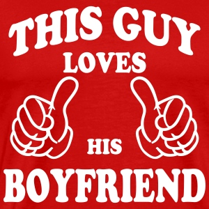 this guy loves his boyfriend T-Shirts - Men's Premium T-Shirt