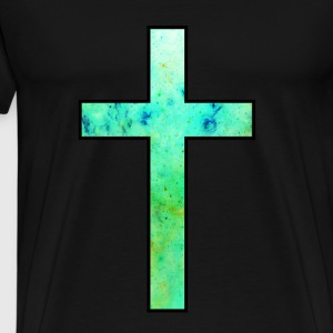 Galaxy Cross Green - Men's Premium T-Shirt