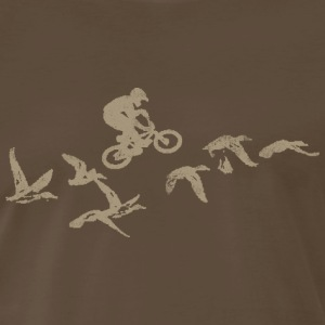 Bicycle BMX Flying HIgh - Men's Premium T-Shirt