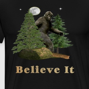 Funny Bigfoot T-shirts - Men's Premium T-Shirt