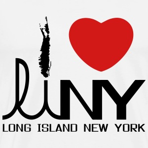I Love Long Island NY T-shirt - Men's Premium T-Shirt