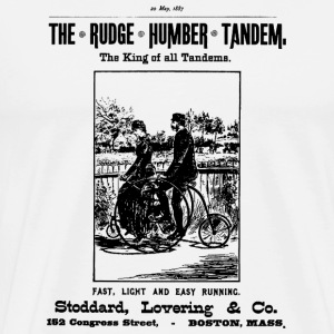 Bicycle Poster 1887 Tandem - Men's Premium T-Shirt