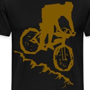 Bicycle Mountain Bike Abstract - Men's Premium T-Shirt