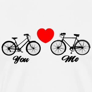 Bicycle Love You & Me - Men's Premium T-Shirt