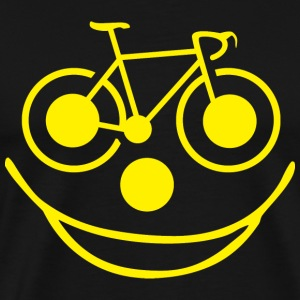 Bicycle Smiley Face - Men's Premium T-Shirt