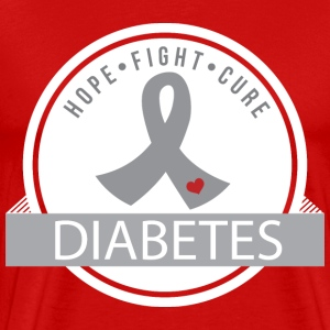 Hope Fight Cure Diabetes T-Shirts - Men's Premium T-Shirt