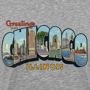 Greetings Chicago Illinois Apparel T-Shirts - Men's Premium T-Shirt