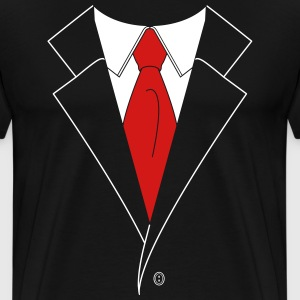 Suit and Tie (2 Color) T-Shirts - Men's Premium T-Shirt