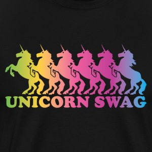 Unicorn Swag Rainbow (Color) T-Shirts - Men's Premium T-Shirt