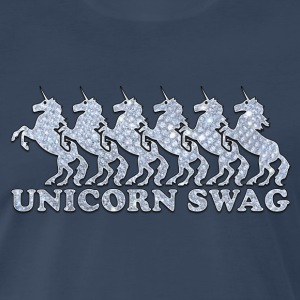 Unicorn Swag w/ Diamonds (Color) T-Shirts - Men's Premium T-Shirt