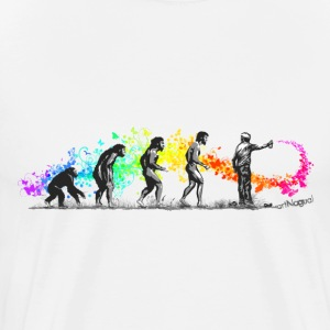 Street Art Rainbow Evolution Graffiti T-Shirts - Men's Premium T-Shirt