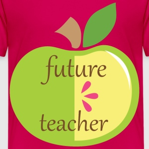 Future Teacher Apple Kids' Shirts - Kids' Premium T-Shirt