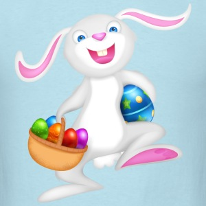 easter bunny with basket of eggs - Men's T-Shirt