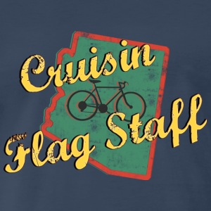 Bicycle Bike Flag Staff Arizona Vintage - Men's Premium T-Shirt