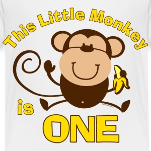 1st Birthday Monkey Boy Baby & Toddler Shirts - Toddler Premium T-Shirt
