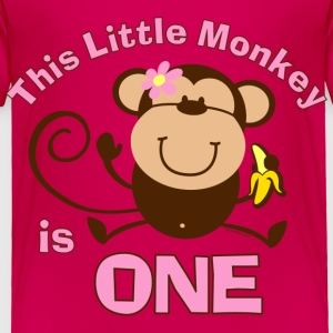 1st Birthday Monkey Girl Baby & Toddler Shirts - Toddler Premium T-Shirt