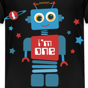 Robot 1st Birthday Baby & Toddler Shirts - Toddler Premium T-Shirt