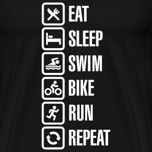 Eat sleep swim bike run repeat - triathlon T-Shirts - Men's Premium T-Shirt